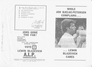 LKB Election Leaflet_1977